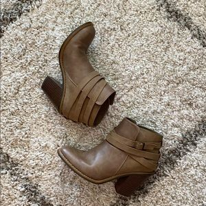 Altar'd State Shoes - Taupe Ankle Booties
